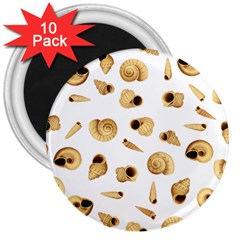 Shell pattern 3  Magnets (10 pack)