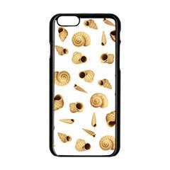 Shell pattern Apple iPhone 6/6S Black Enamel Case