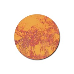 Colors Rubber Round Coaster (4 pack)