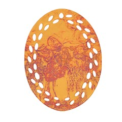 Colors Oval Filigree Ornament (Two Sides)