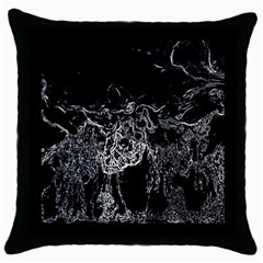 Colors Throw Pillow Case (Black)