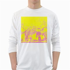 Colors White Long Sleeve T-Shirts