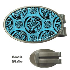 Turquoise Pattern Money Clips (Oval)
