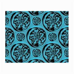 Turquoise Pattern Small Glasses Cloth (2-Side)