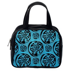 Turquoise Pattern Classic Handbags (One Side)