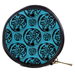 Turquoise Pattern Mini Makeup Bags