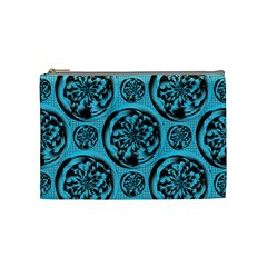 Turquoise Pattern Cosmetic Bag (Medium)