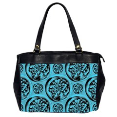 Turquoise Pattern Office Handbags (2 Sides)