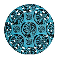 Turquoise Pattern Round Filigree Ornament (Two Sides)