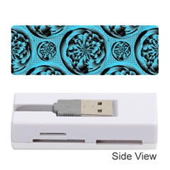 Turquoise Pattern Memory Card Reader (Stick)