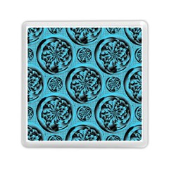 Turquoise Pattern Memory Card Reader (Square)