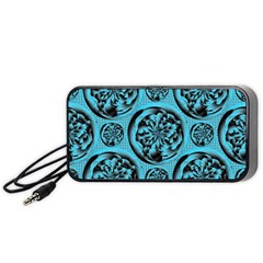 Turquoise Pattern Portable Speaker (Black)