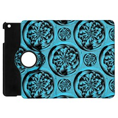 Turquoise Pattern Apple iPad Mini Flip 360 Case