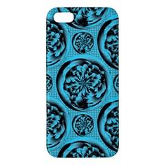 Turquoise Pattern iPhone 5S/ SE Premium Hardshell Case