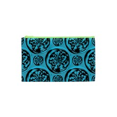 Turquoise Pattern Cosmetic Bag (XS)