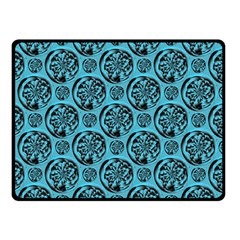 Turquoise Pattern Double Sided Fleece Blanket (Small)