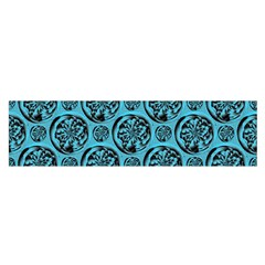 Turquoise Pattern Satin Scarf (Oblong)
