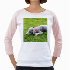 Bedlington Terrier Sleeping Girly Raglans
