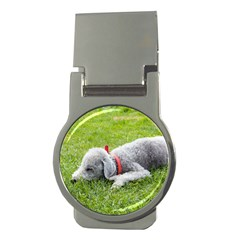 Bedlington Terrier Sleeping Money Clips (Round)