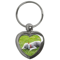 Bedlington Terrier Sleeping Key Chains (Heart)