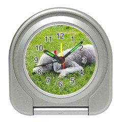 Bedlington Terrier Sleeping Travel Alarm Clocks
