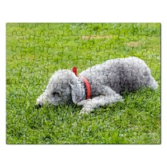 Bedlington Terrier Sleeping Rectangular Jigsaw Puzzl