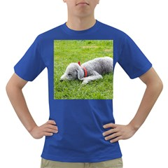 Bedlington Terrier Sleeping Dark T-Shirt