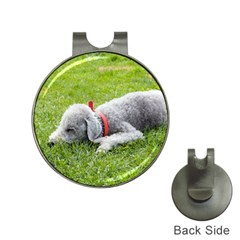 Bedlington Terrier Sleeping Hat Clips with Golf Markers