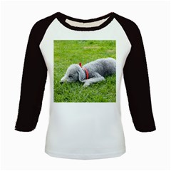 Bedlington Terrier Sleeping Kids Baseball Jerseys