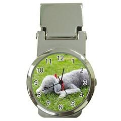 Bedlington Terrier Sleeping Money Clip Watches