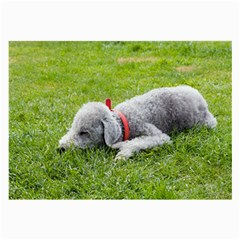 Bedlington Terrier Sleeping Large Glasses Cloth (2-Side)