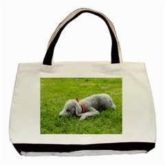 Bedlington Terrier Sleeping Basic Tote Bag (Two Sides)