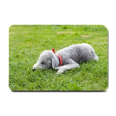Bedlington Terrier Sleeping Small Doormat