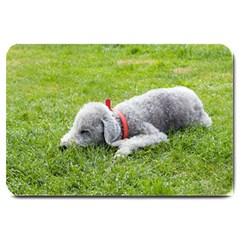 Bedlington Terrier Sleeping Large Doormat