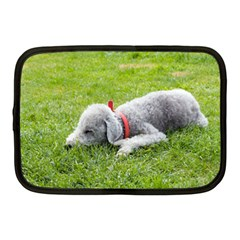 Bedlington Terrier Sleeping Netbook Case (Medium)