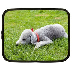 Bedlington Terrier Sleeping Netbook Case (Large)