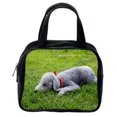 Bedlington Terrier Sleeping Classic Handbags (One Side)