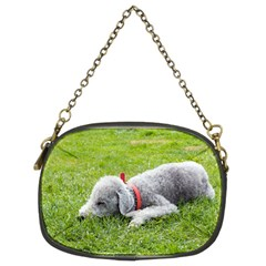 Bedlington Terrier Sleeping Chain Purses (Two Sides)
