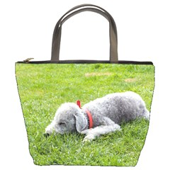 Bedlington Terrier Sleeping Bucket Bags