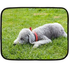 Bedlington Terrier Sleeping Double Sided Fleece Blanket (Mini)