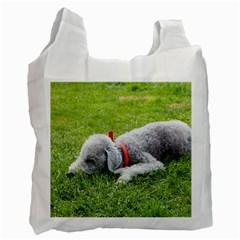 Bedlington Terrier Sleeping Recycle Bag (One Side)