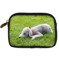 Bedlington Terrier Sleeping Digital Camera Cases