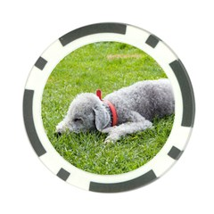 Bedlington Terrier Sleeping Poker Chip Card Guard (10 pack)