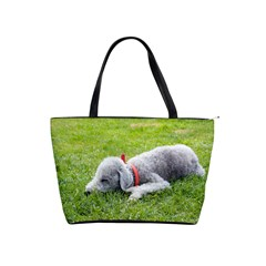 Bedlington Terrier Sleeping Shoulder Handbags