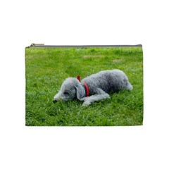 Bedlington Terrier Sleeping Cosmetic Bag (Medium)