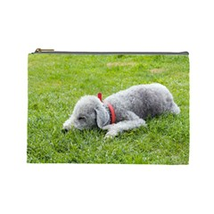 Bedlington Terrier Sleeping Cosmetic Bag (Large)
