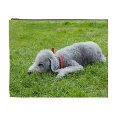 Bedlington Terrier Sleeping Cosmetic Bag (XL)