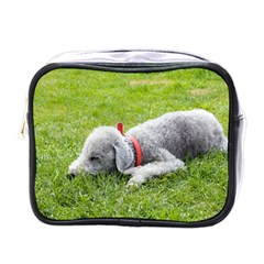 Bedlington Terrier Sleeping Mini Toiletries Bags