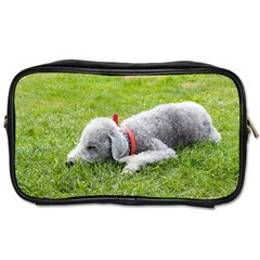 Bedlington Terrier Sleeping Toiletries Bags