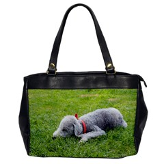 Bedlington Terrier Sleeping Office Handbags